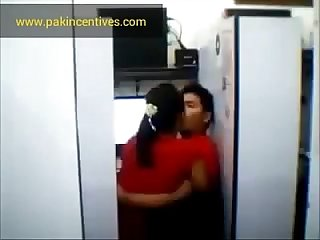 Desi girl kissing with boyfriend in her home