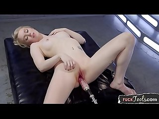 Machine loving babe getting dildo fucked