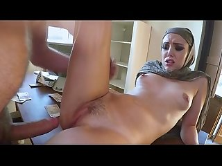 Hooded Arab Teen Hottie Gets Dat Pussy Filled On Da Table