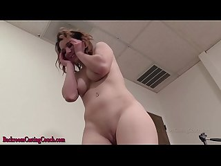 20 year old amateur goes anal at porn casting