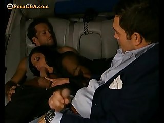 Hot cuckold in car