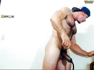 Colombian hairy pussyboi working his man pussy