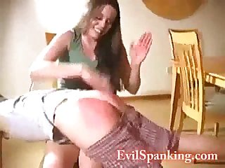 wicked woman spanking husband