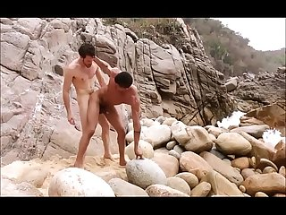 hot men cum outdoor