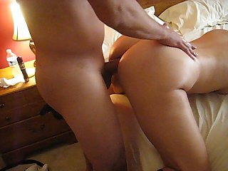 BUSTY MILF ANAL - Getting ass fucked bend over