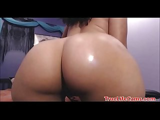 Homemade amateur bubble butt reverse ridding done right