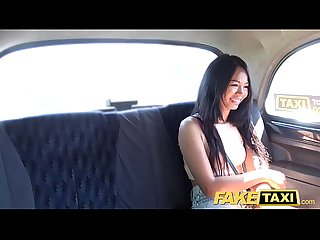 Fake Taxi Sexy Thai lady with pierced pussy lips loves British dick