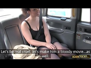 Saucy hottie chick Kloe White in spouse revenge in taxi
