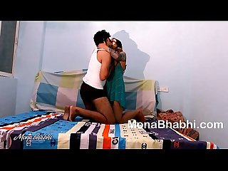 Big Ass Desi Bhabhi Mona Fucked Hard By Her Trainer In Bed After Workout