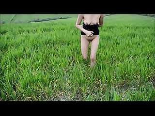 My Naked Girlfriend Walking And Dancing In Panoramic Mountain
