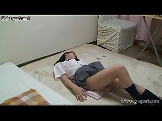 Japanese Teen Upskirt Exercise in School Uniform