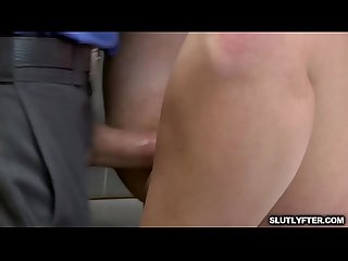 Shoplyfter is moaning as she gets her wet pussy fuck!