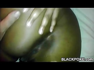 Sexy black booty gets anal penetration