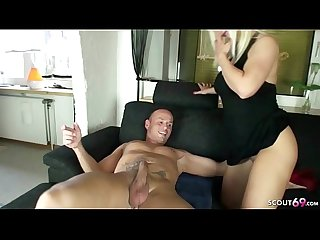 GERMAN MILF NADJA SEDUCE HUSBAND OF SISTER TO FUCK HER