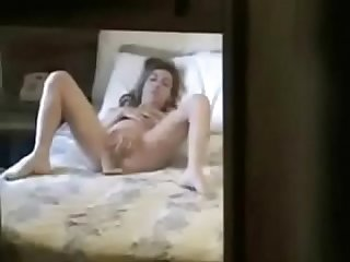 My cute sister fingering caught by hidden cam