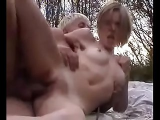 Mia banged outdoor