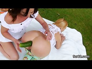Lesbian models open up their deep ass holes and drill big vibrators