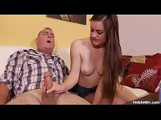 Mature Guy Doesnt Want Wife To Know Cock Jerking With Teen