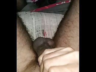 Jumping balls Big black cock slowmo cumshot