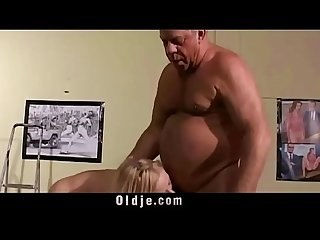 Vintage Old Young Teenie Girl Fucked grey hair grandpas with small cockcs