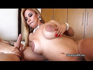 Shemale milf cocksucker fucks hard