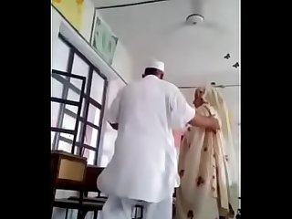 Desi principal fuck teacher in class room MMS paki old