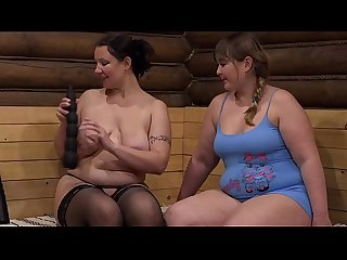 Mature lesbians insert panties in thick pussies and fuck with big dildos. Milfs love fetish..