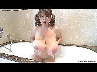 Sexy huge tits woman taking a shower at sexfree.online