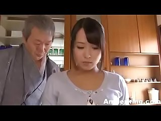 Japanese father fucking her daughter from back like slave - AmJerking.com