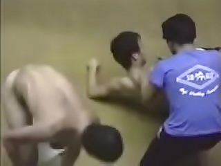 Crazy Japanese wrestling match leads to wrestlers and referees getting naked