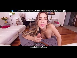 BaDoinkVR Alina Lopez Letting You Slide Your Cock In Her Throat