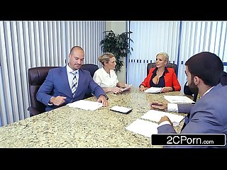 Douchebag Employee Eating Office Boss (Nina Elle) Pussy in the Meeting
