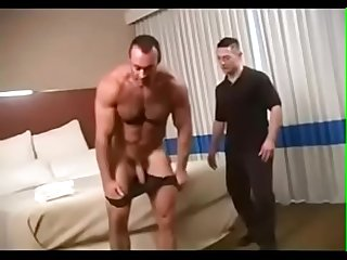 Daddy fucks horny faggot and cum in his face