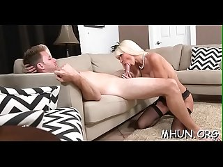 Nice-looking milf doesn't mind enduring hard fuck at all