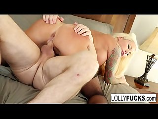 Lolly fucks her boyfriend and lets him cum inside her
