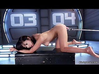 Squirting Asian spinner fucking machines