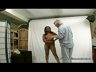Ebony amateur filmed at real porn casting audition