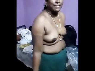 very shy tamil aunty stripping infront of neighbor guy