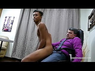 Daddy and Asian Boy Josh Flip Fuck