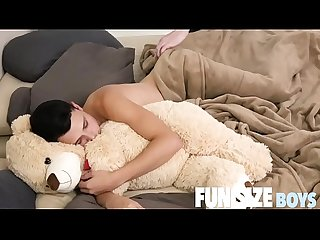 FunSizeBoys - Austin Young woken up for hot bareback sex by Daddy Wolf