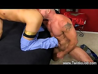 Young gays anal creampie Daddy Brett obliges of course, after sharing